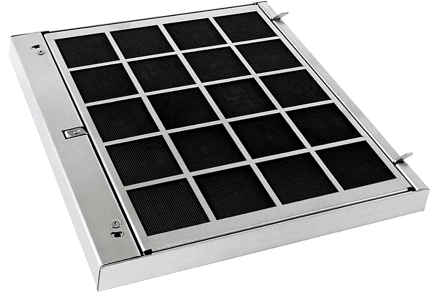 Работа угольного фильтра заключается в очищении проходящего через него воздуха не только от запаха, но и от грязи, пыли и жира