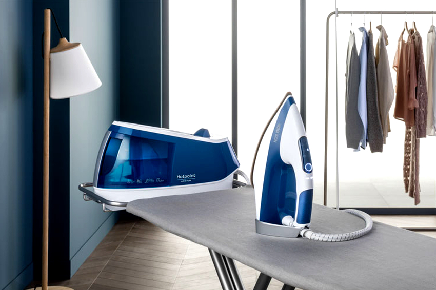 Утюг с отдельно стоящим парогенератором исключает попадание капель воды на вещи