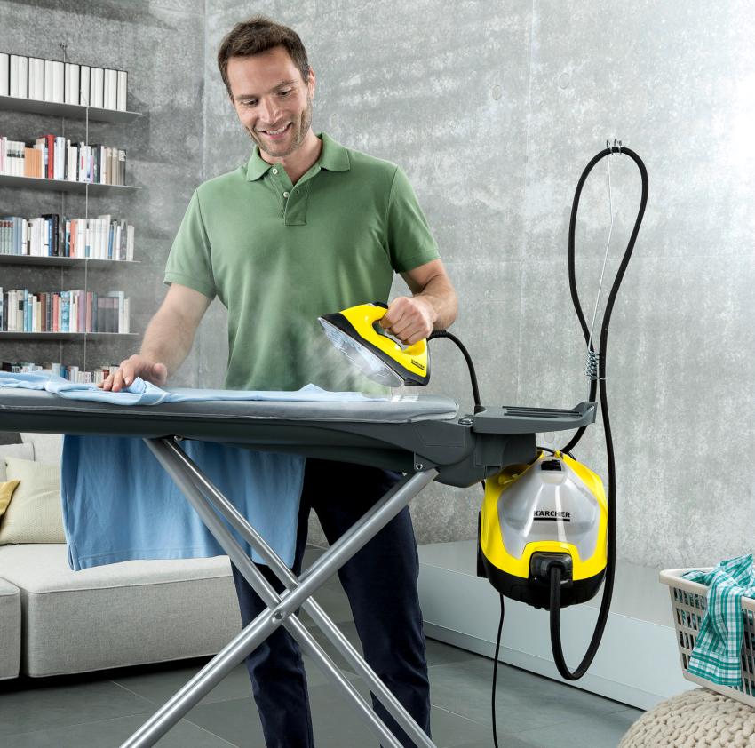 Утюг с парогенератором Керхер SC 4 Easyfix Premium Iron позволит не только качественно разгладить одежду, но и привести в порядок весь дом