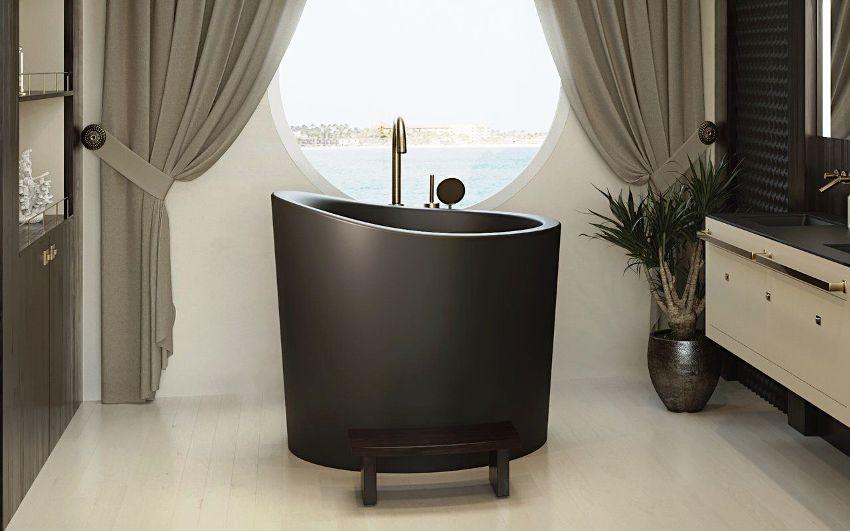 Дизайнерские сидячие ванны - это сочетание миниатюрных размеров и внешней привлекательности