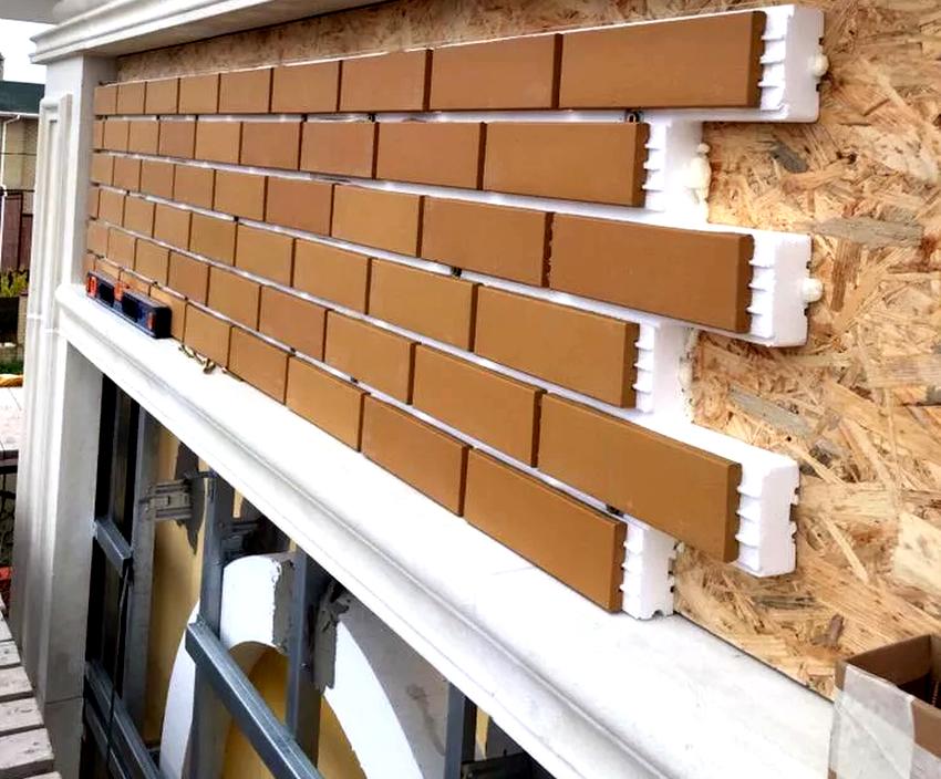 Стандартный размер фасадных панелей под кирпич от компании Fineber – 1100х500 мм