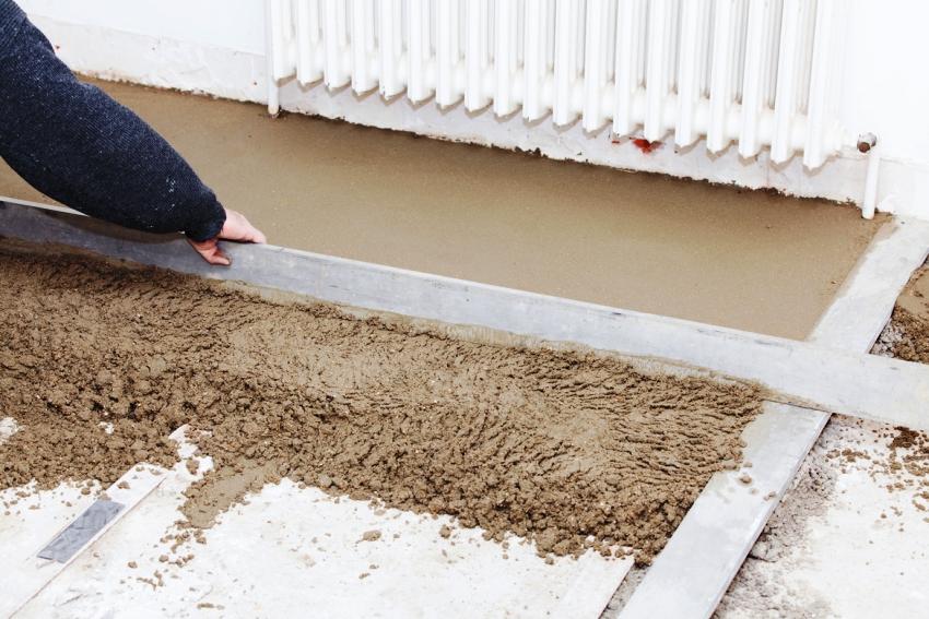 Главное – исправить неровности стяжки и хорошо ее очистить