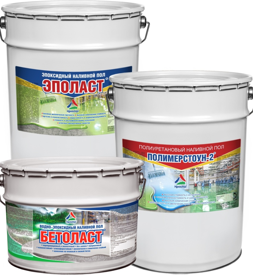 Цена полиуретанового пола Полимерстоун-2 составляет 13 тыс. руб. за 30 кг