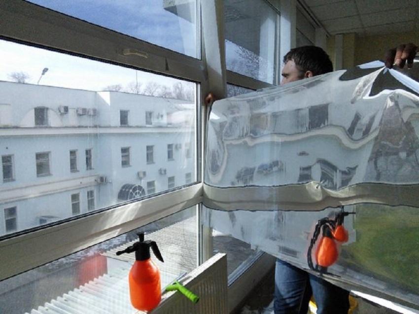 Уровень влажности при монтаже фольги должен быть в пределах 20-80%