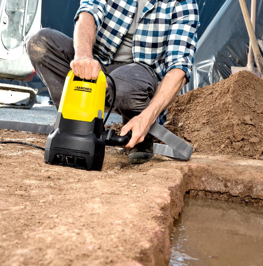 Наличие встроенного поплавка позволяет использовать дренажный погружной насос для грязной воды в ограниченных пространствах