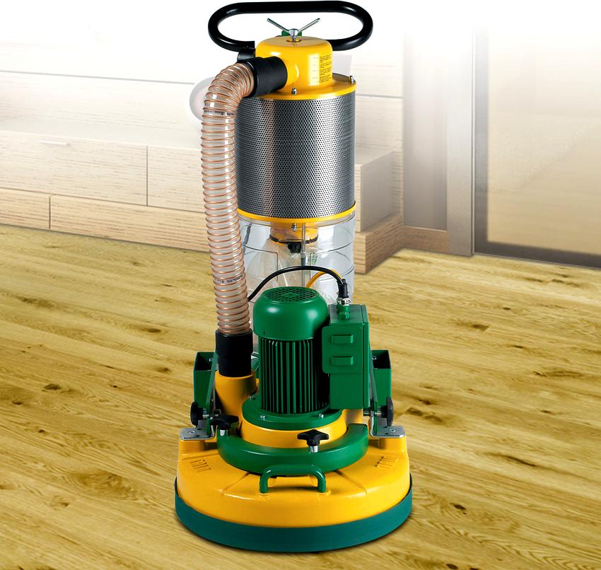 Плоскошлифовальная машинка работает с помощью специальных цилиндров, которые оснащены абразивными накладками