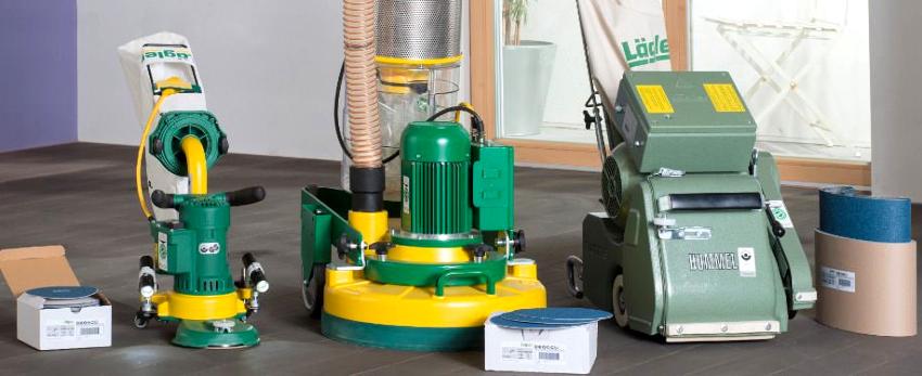 Для шлифовки деревянного пола применяют агрегаты барабанного, ленточного или вибрационного типа