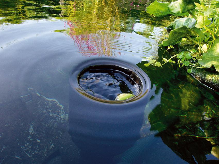 Устройства донного типа можно подобрать как для маленького водоема, так и для большого пруда