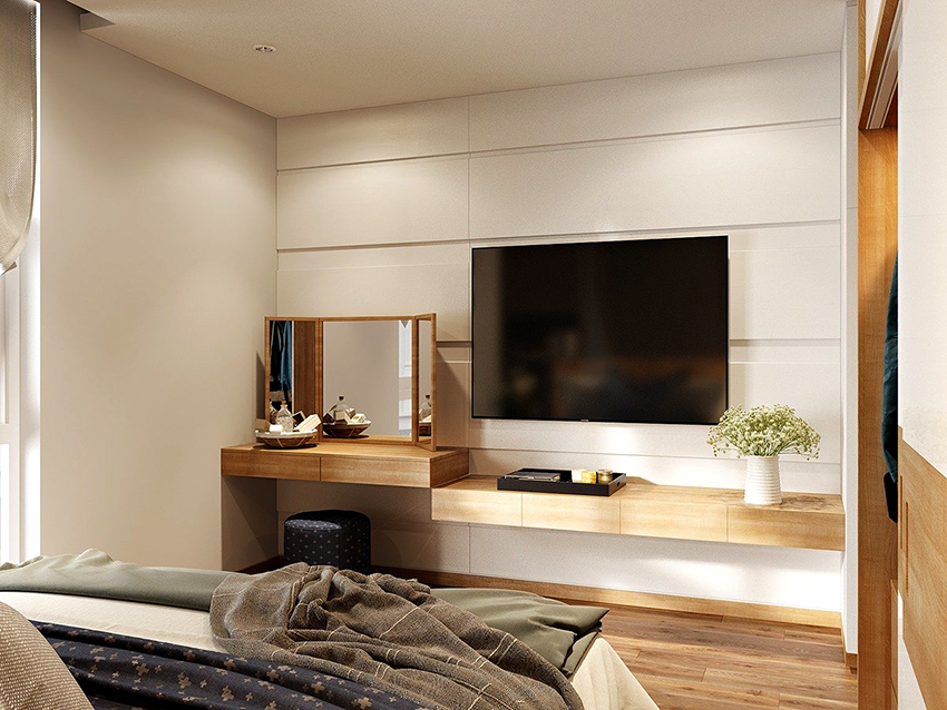 Компактные модели макияжных столиков для спальни могут иметь ширину всего 40 см