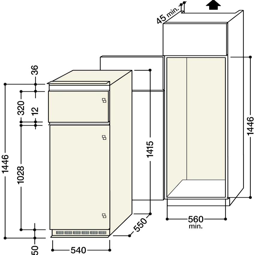 Преимущество встраиваемых холодильников Hansa – это стандартные габариты, что позволяет их легко монтировать в кухонную мебель