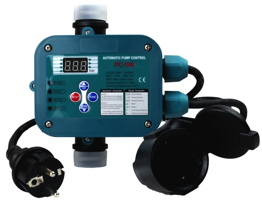 Регулирующая автоматика для погружного насоса состоит из реле управления и электрической части