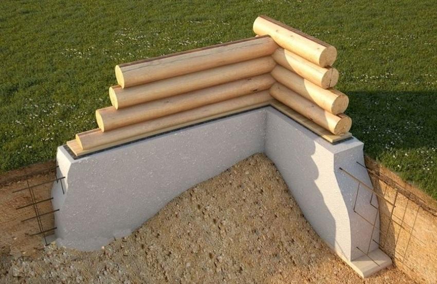Элементы основания беседки можно выполнить из монолитного бетона