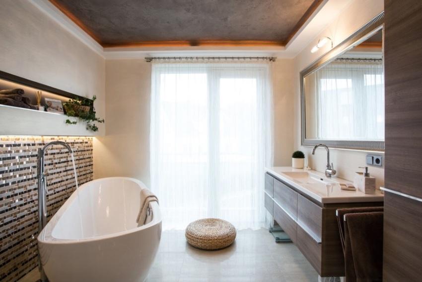 Матовые натяжные потолки можно устанавливать в помещениях с повышенной влажностью и не опасаться последствий затопления сверху
