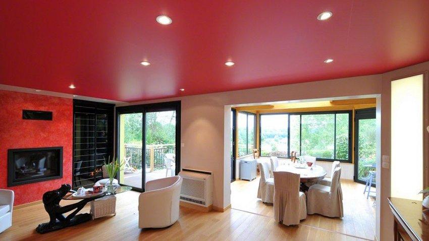 Матовые натяжные потолки выпускаются стандартной шириной до 3 м