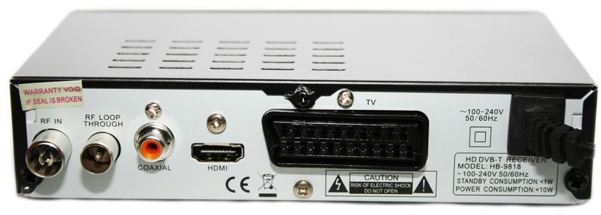Аналоговый сигнал передается при помощи разъема для обычной антенны