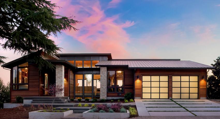 Чаще всего одноэтажные дома имеют квадратную, прямоугольную, Г-, П-, Т- и Н- образную форму