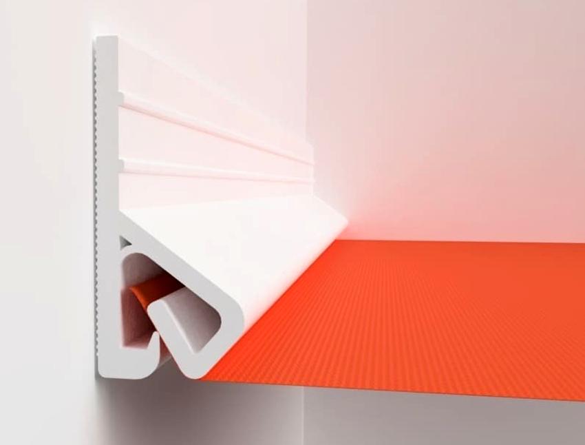 Клипсовая система применяется для крепления натяжных потолков из ткани