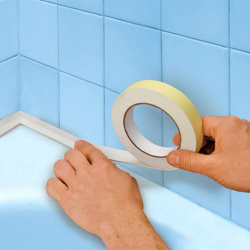 Правильно подобранная бордюрная лента для ванной помогает предотвратить появление грибка и плесени