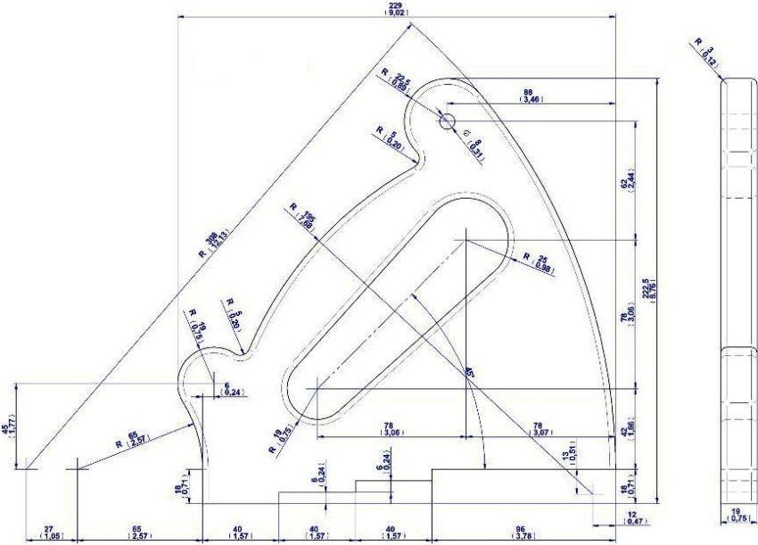Для изготовления самодельной циркулярной пилы и стола потребуются чертежи