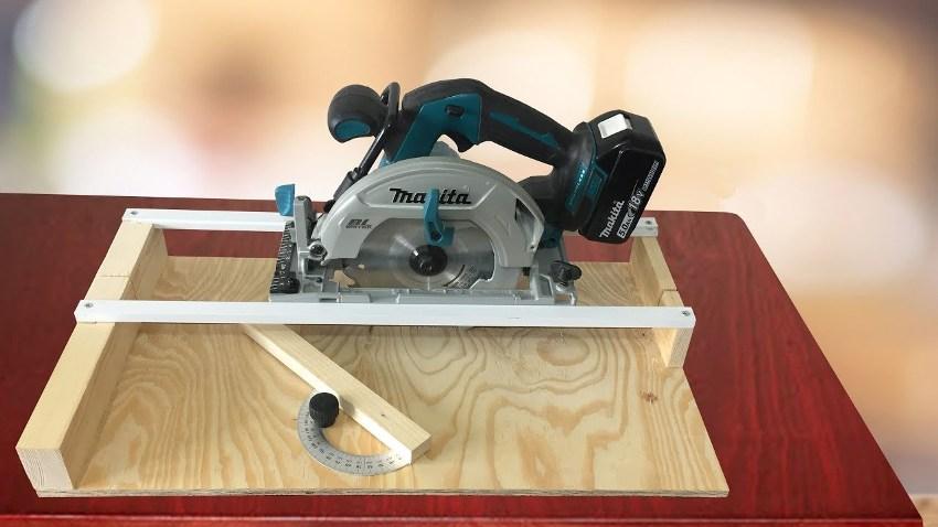 Торцовка, изготовленная своими руками, делает работу более быстрой и экономичной