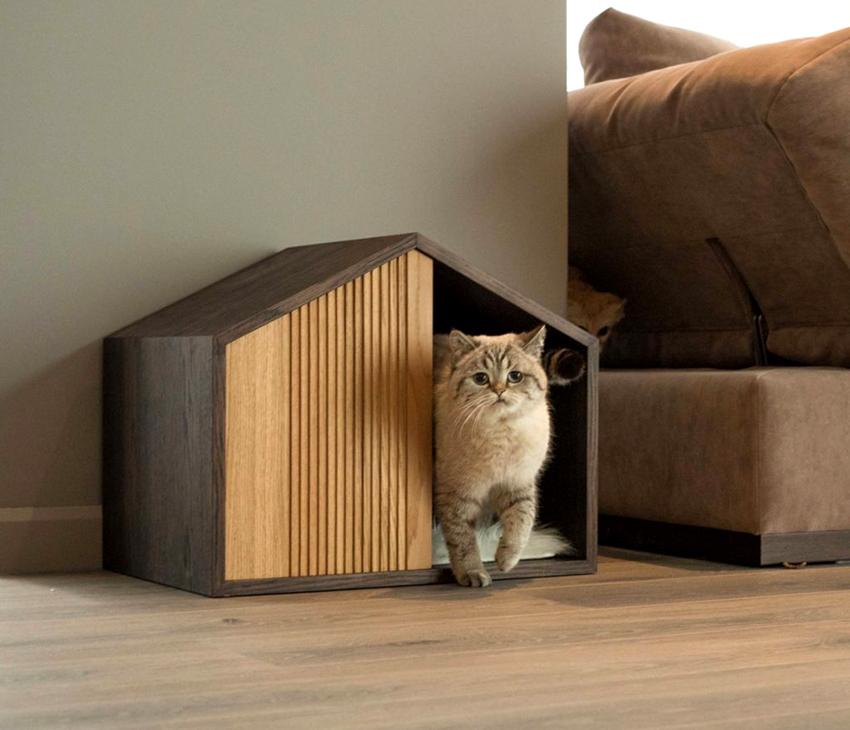 Кошачьи домики могут иметь разнообразную форму и конфигурацию