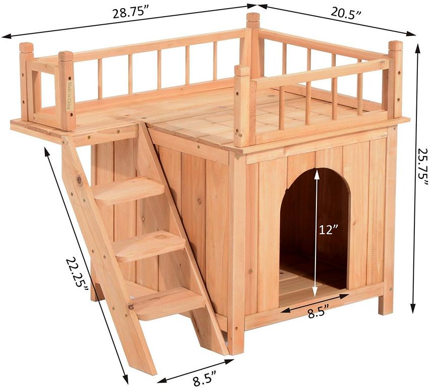 Если есть желание и навыки, можно изготовить домик из дерева