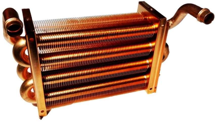 Теплообменники из меди свойственны для настенных газовых котлов импортного производства