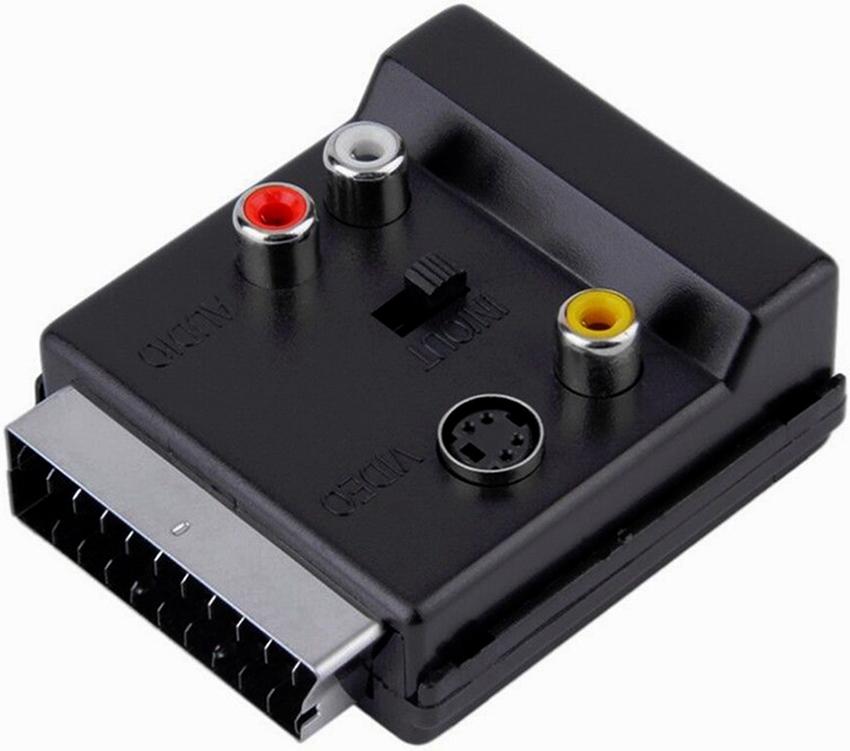 Разъем SCART является более усовершенствованным и компактным по сравнению с RCA