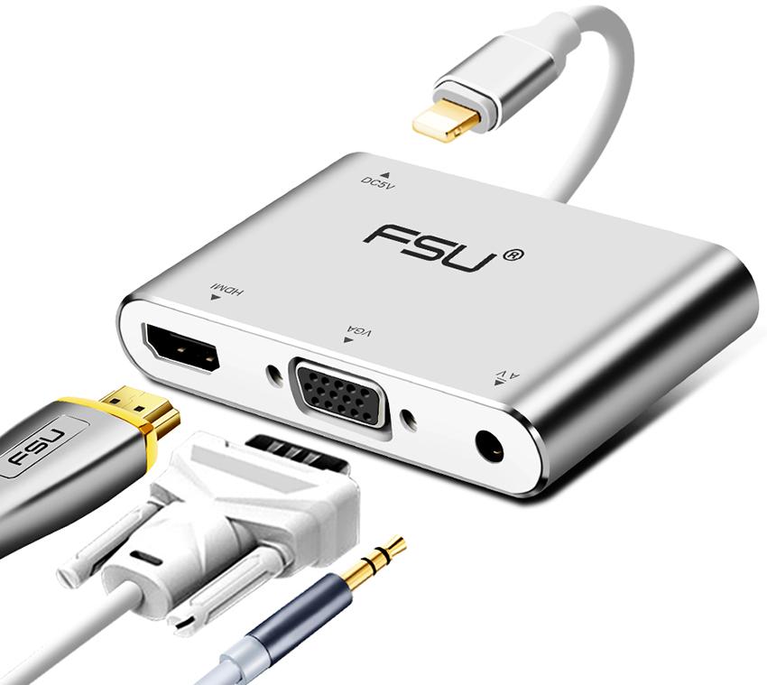 Преобразователь HDMI-VGA отличается компактностью и универсальностью