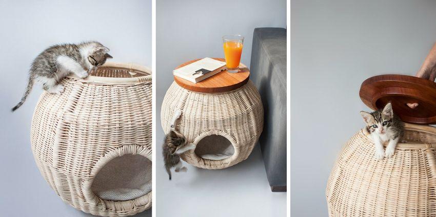 Сама работа изготовления лежанки из бумажных трубочек напоминает процесс плетения корзинок