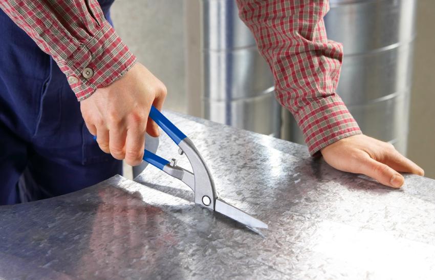 Ножницы по металлу «Пеликан» предназначены для прямого реза