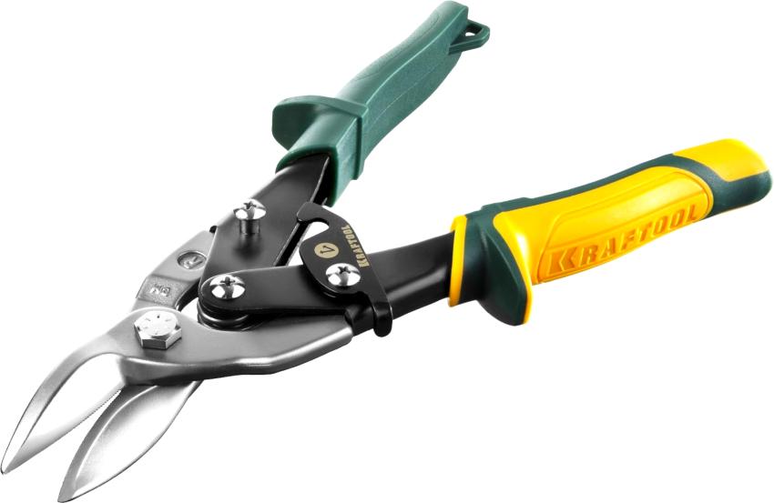 Ножницы по металлу Kraftool 2325-L выполнены из хромомолибденового сплава и режут металл толщиной до 1,5 мм