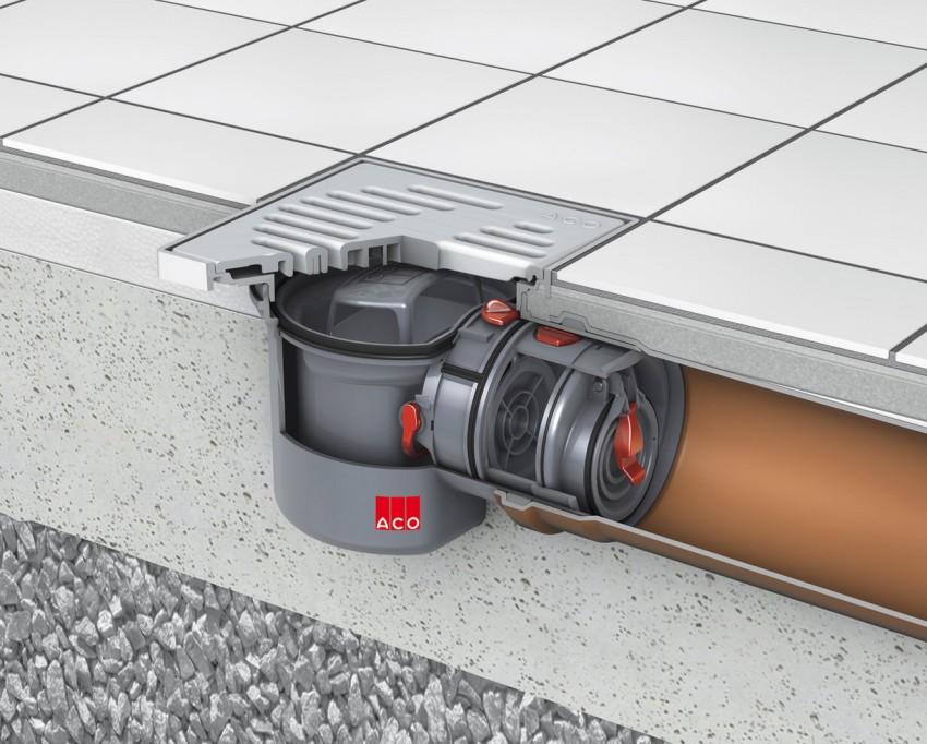 Обратный клапан для канализации можно монтировать двумя способами