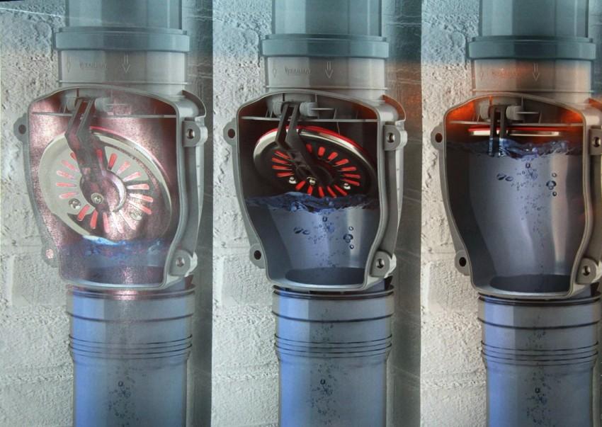 Обратные клапаны хорошо защищают от проникновения неприятных запахов внутрь здания