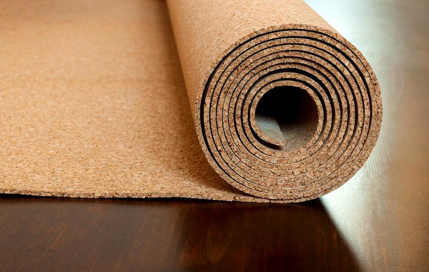 пробковый материал содержит натуральные дезинфицирующие составляющие, которые предупреждают тление подложки