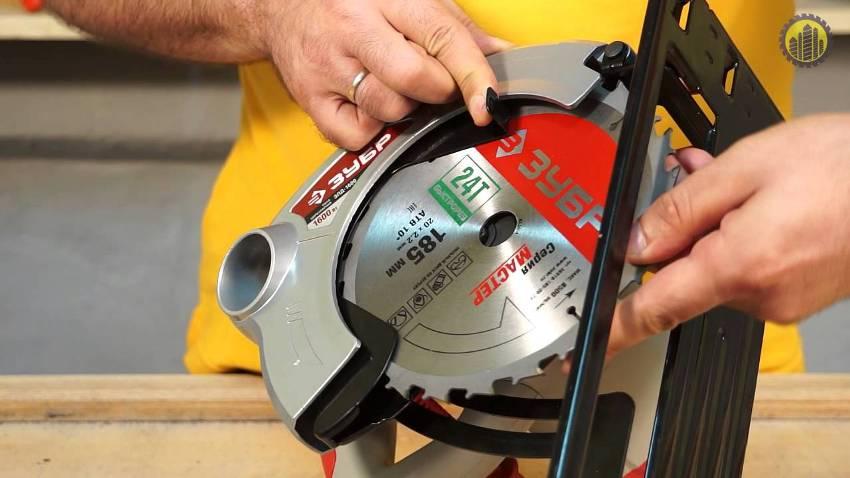 Циркулярная пила «Зубр ЗПД-1600» отличается качественной линией реза и высокой скоростью работы