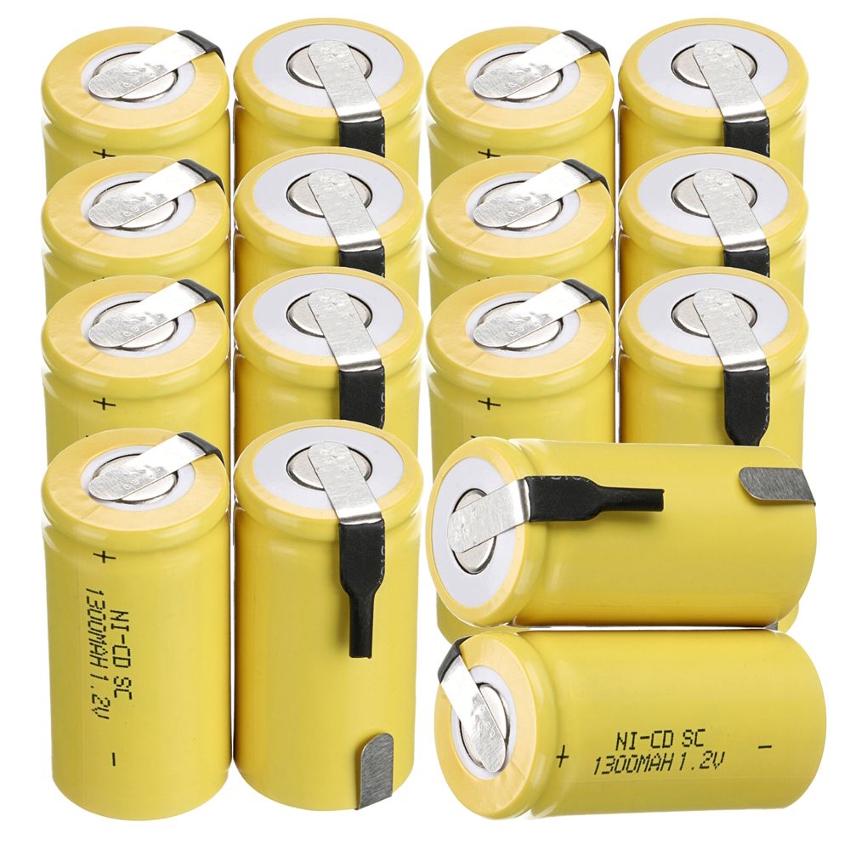 Никель-кадмиевые батареи имеют прочный металлический корпус