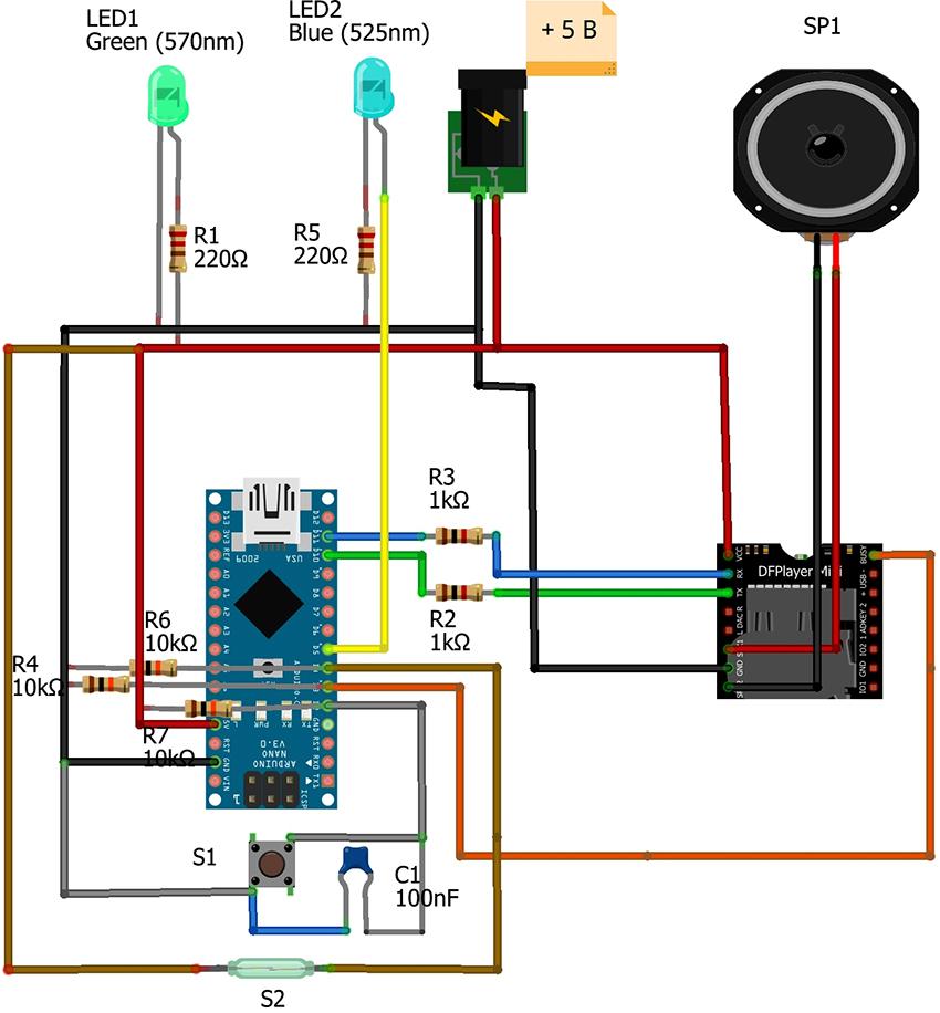 Схема подключения дверного звонка проводного типа