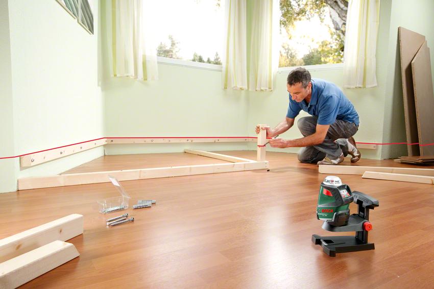 Лазерные приборы чаще всего применяются в домашних условиях при выполнении ремонтных работ