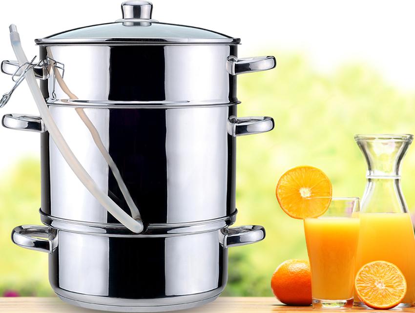 Принцип работы соковарки - получение сока из плодов под действием горячего пара