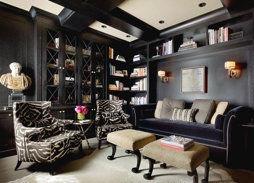 В зависимости от конструкции книжные шкафы бывают встроенными, модульными и навесными