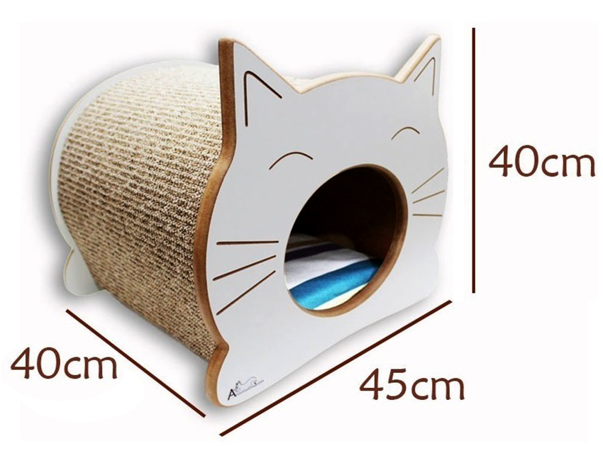 Домик для кошек с когтеточкой размером 40х40х45 сантиметров