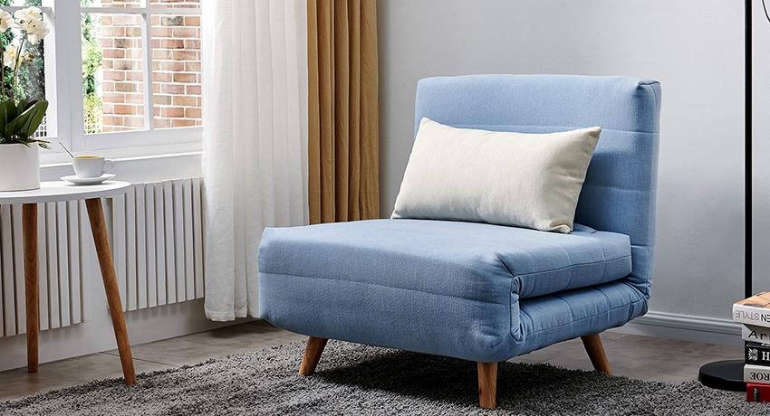 Кресло-кровать без подлокотников: идеальный вариант эргономичности