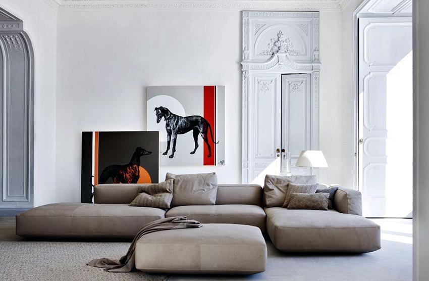 Модульные диваны могут быть каркасными и бескаркасными