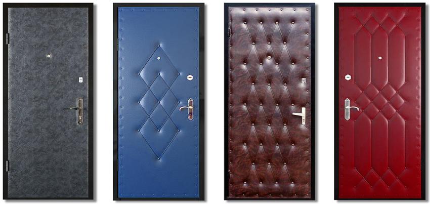 Металлические двери обивают дермантином намного чаще, чем деревянные