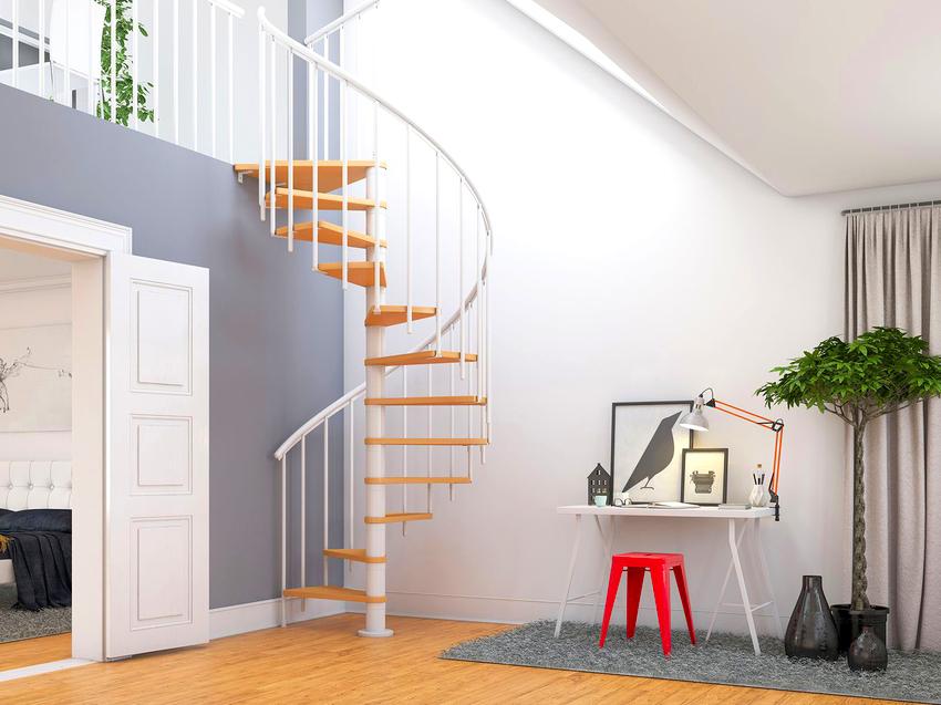 В доме могут быть установлены такие виды лестниц как прямые, винтовые, комбинированные и маршевые