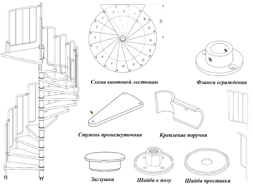 Готовый дизайн лестницы можно найти в интернете или создать эскиз самостоятельно
