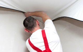 Ремонт натяжного потолка: устранение дефектов с сохранением эстетичности