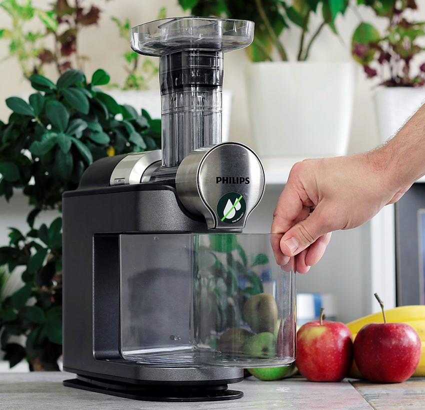 Соковыжималки от Philips позволяют эффективно перерабатывать большой объем яблок