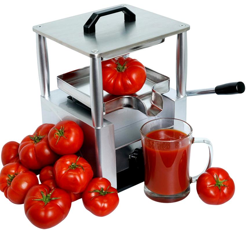Производитель прессовой соковыжималки RawMID Dream Juicer Press JDP-01 гарантирует получение до 99% сока от общей массы томатов